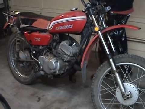 1972 kawasaki f7 175 parts bike #1112 - youtube