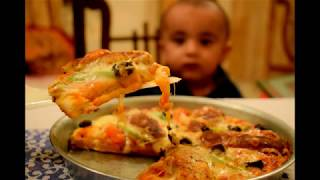 HOT AND SPICY CHICKEN KEBAB PIZZA WITHOUTOVEN WORLDS BEST PIZZA TRY THIS BY LET