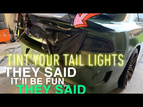 Never install tail light tint on your scat pack ... unless