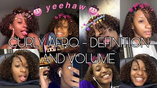 HOW I GET MY CURLY HAIR TO HAVE DEFINITION AND VOLUME 💆🏽♀️💗
