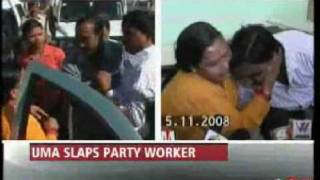 Uma Bharati showers kisses on the man she slapped