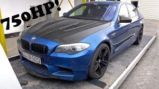 BMW M5 F10 Start up Failure & Brutal REVS!