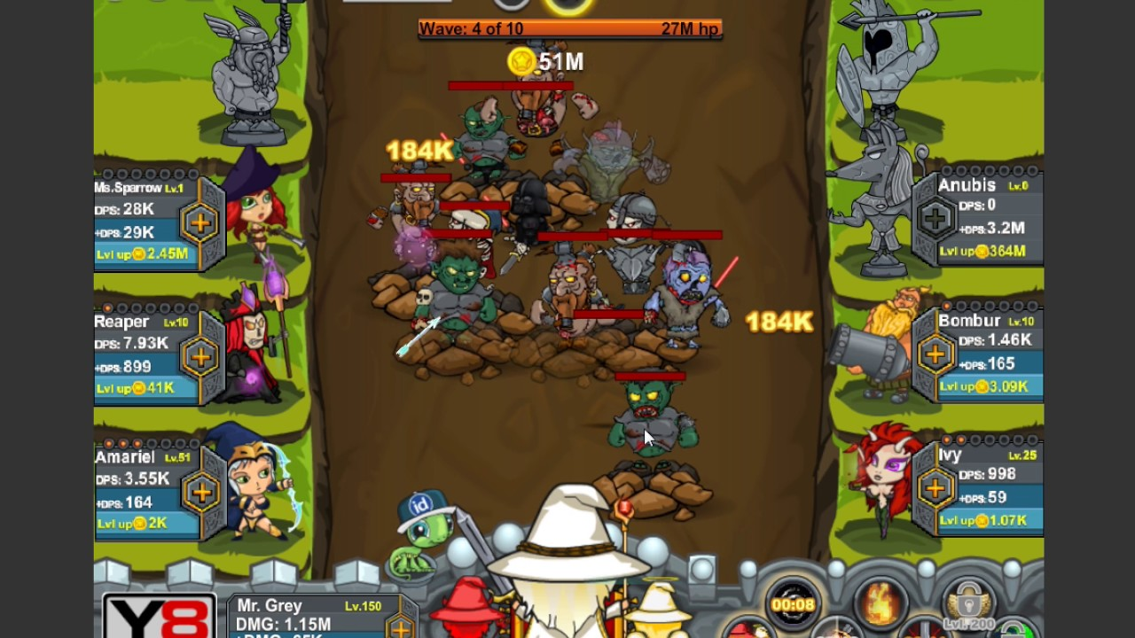 game y8:review game của y8 #1 :game Epic Clicker