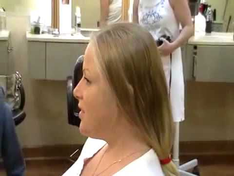 Long Blonde Hair Cut Off To A New Style Youtube