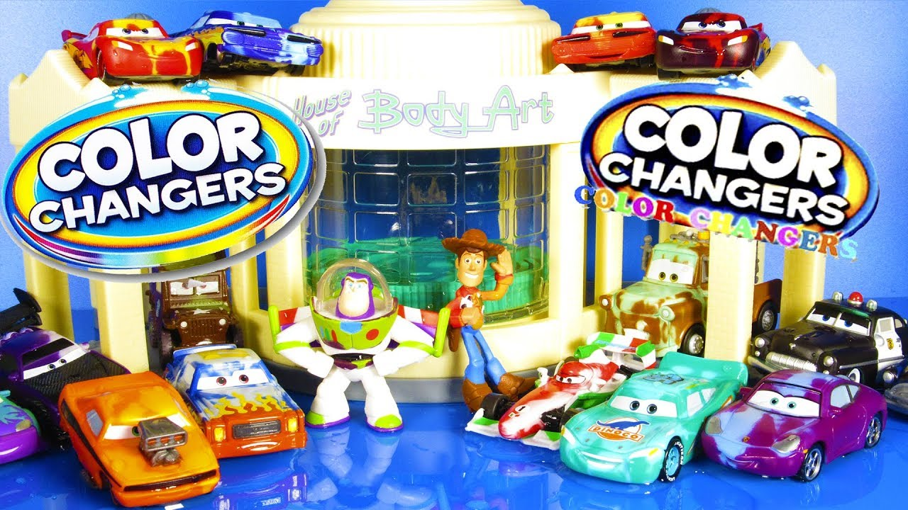 32 Color Changing Cars Ramones Playset Toy Story Color Splash