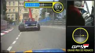 Monaco Historique F1 2012 Qualifying with data overlay - Race Technology VIDEO4
