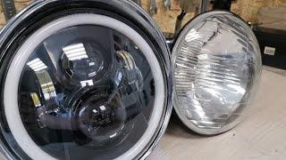 Светодиодная фара на мотоцикл с Алиэкспресс (AliExpress) на Урал / Днепр. Тюнинг, кастом.