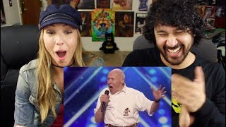 82 Year Old Man Covers DROWNING POOL'S 'Bodies' on Americas Got Talent! REACTION!!!