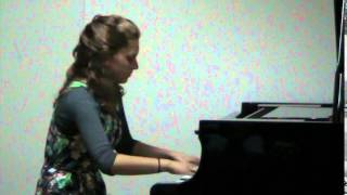 Liora playing Mozart Sonata in C Major K330 2nd and 3rd Movements   Jun 18, 2014