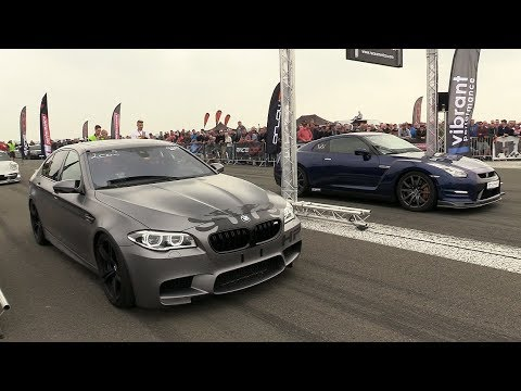 download 900HP BMW M5 F10 HPT vs 650HP Nissan GTR R35