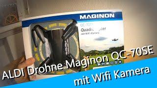 #01 Aldi Maginon Quadrokopter QC-70SE WIFI unboxing - Maginon FlyAPP - Starten