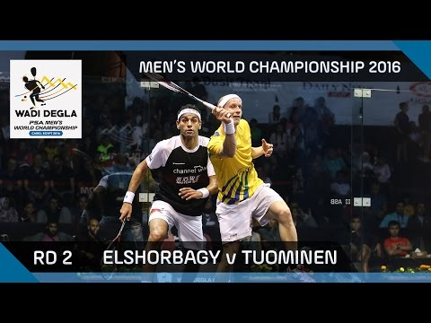 Squash: Mo. ElShorbagy v Tuominen - Men's World Championship Rd 2 Highlights