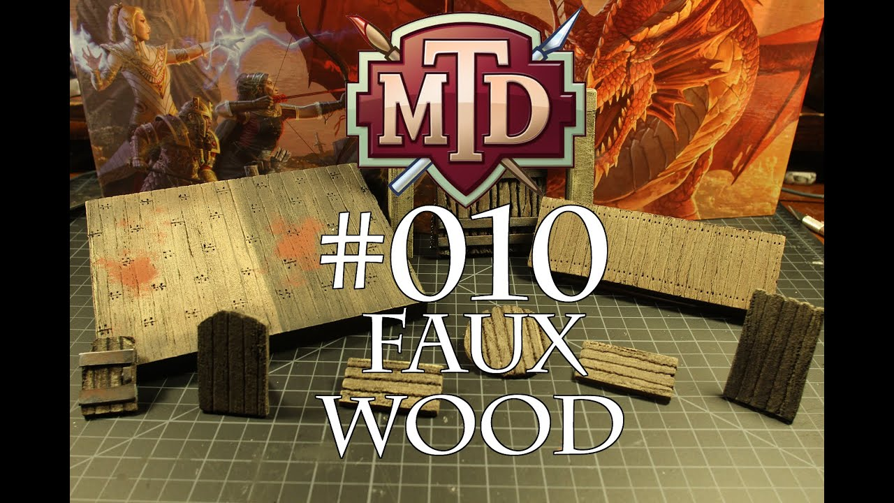 Foam Faux Wood--texture and painting techniques for ...