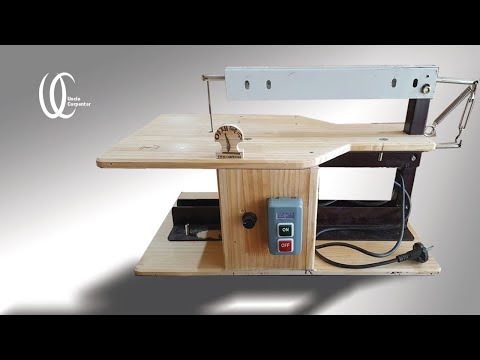 Woodworking tools: How to make homemade scroll saw. Scroll saw DIY & Woodworking idea.