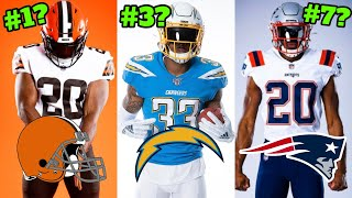 Ranking All The NFL's NEW Team Uniforms & Logos For The 2020 Season