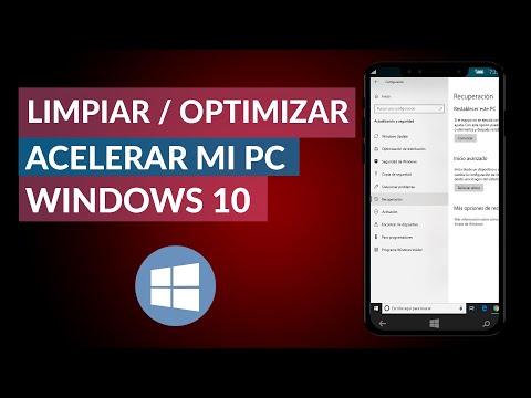 Cómo Limpiar, Optimizar y Acelerar mi PC Windows 10 SIN Programas