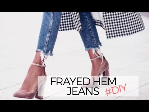 527990c2 HOW TO: FRAYED DENIM JEANS (DIY) - YouTube