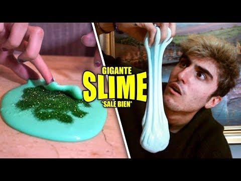 DIY SLIME GIGANTE | 3 FORMAS DE HACER SLIME *sale bien*