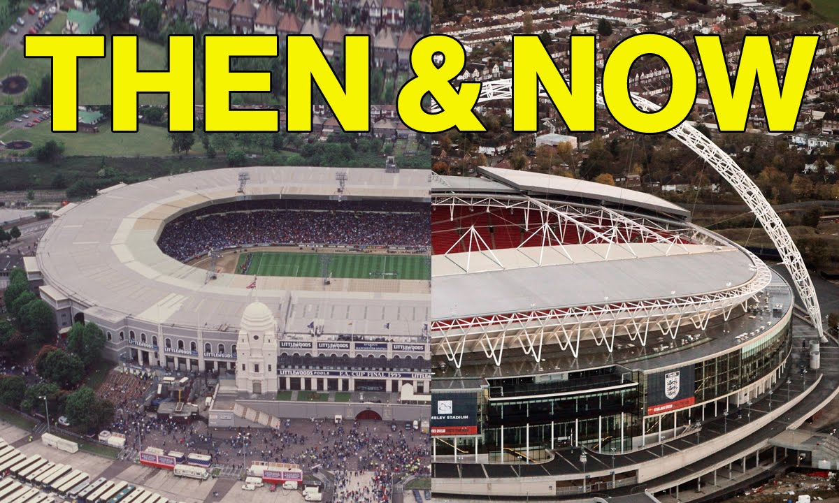 7 Famous Football Stadiums Then And Now | Can You Identify Them ...