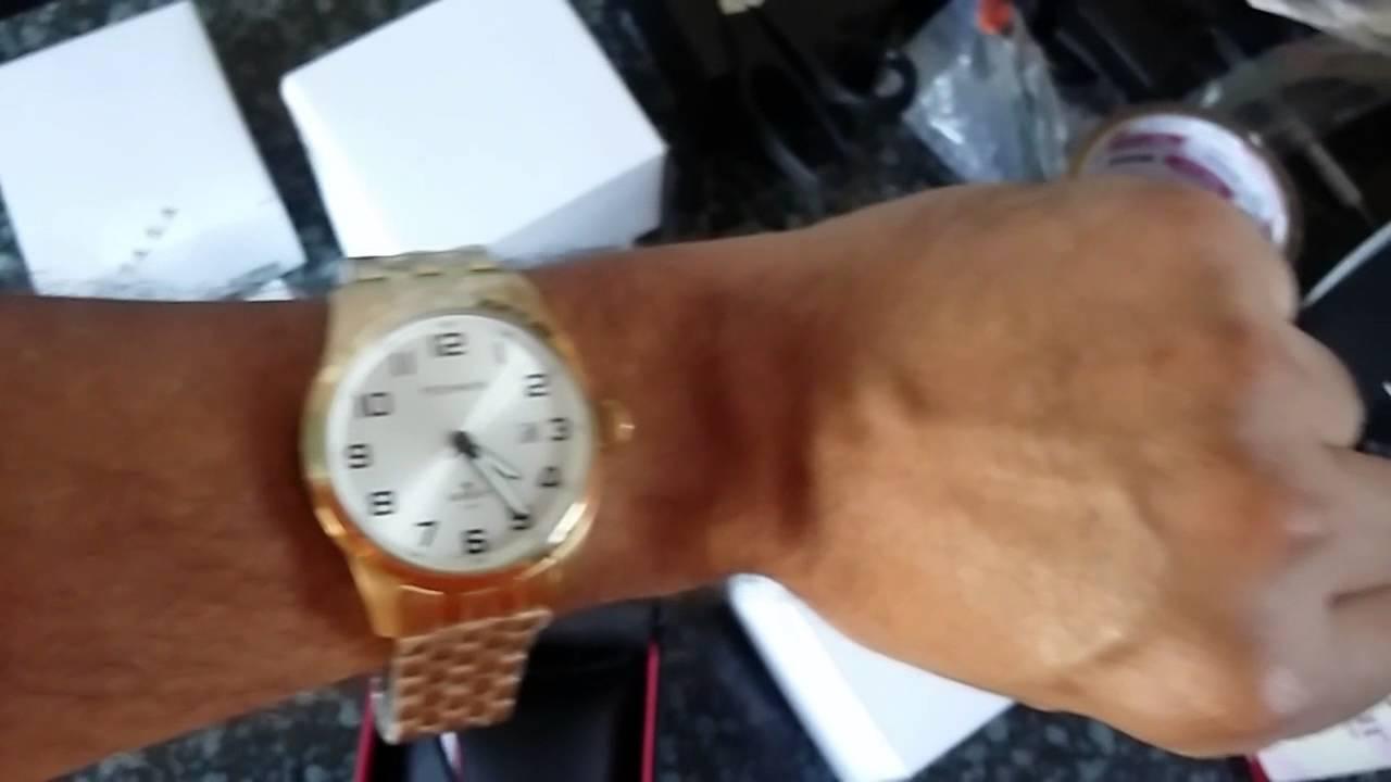 b4f2a2290aa Relógio Masculino Technos Golf 2315YL 4K Classic Giga Store - YouTube