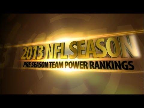2013 NFL Pre Season Team Power Rankings