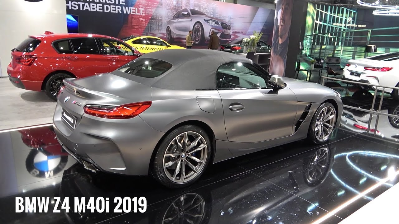 Bmw Z4 M40i 2019 First Look Exterior Interior 340 Hp Roadster