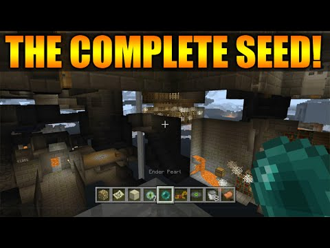 ★Minecraft Xbox 360 + PS3: TU30 The Perfect Seed Diamonds, Villages, Temples, Spawners & MORE★