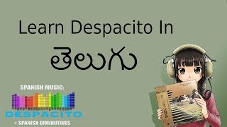 Learn Despacito Telugu Subtitles Karoke Instrumental