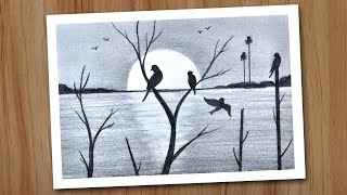 Sunset Scenery Drawing In Pencil For Beginners Step By Step Pencil Drawing For Beginners Youtube See more ideas about pencil sketches architecture, sketches, drawings. sunset scenery drawing in pencil for beginners step by step pencil drawing for beginners
