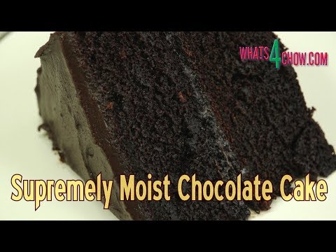 Moist Chocolate Cake Recipe - How To Make The Best Chocolate Cake Ever! @Whats4Chow