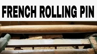woodturning a french rolling pin