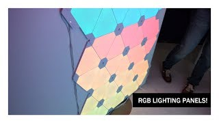 CES 2018: Nanoleaf! RGB Light Panels Unlike Any Other! (Also The Most Lit Booth of CES)