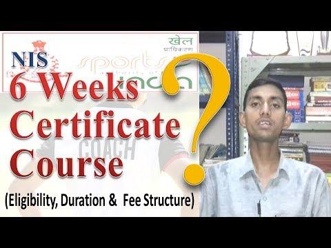 NIS Six Weeks Certificate Course