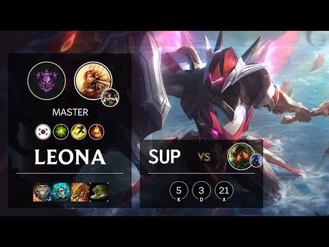 Leona Support vs Nautilus - KR Master Patch 10.22