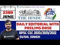 23rd June - Daily Current Affairs | The Hindu Summary & PIB - Pre Mains UPSC CSE/IAS 2020