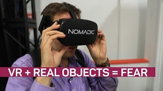 Feel the fear when real objects meld with VR