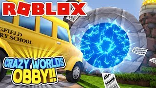 ROBLOX Adventure - A PORTAL TO DIFFERENT CRAZY WORLDS!!