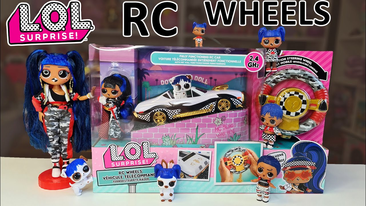 LOL Surprise •R//C WHEELS• Remote Control Car With Exclusive JK Doll