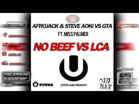 Afrojack & Steve Aoki vs GTA - No Beef vs LCA (Steve Aoki 'UMF Miami 2017' Mashup)