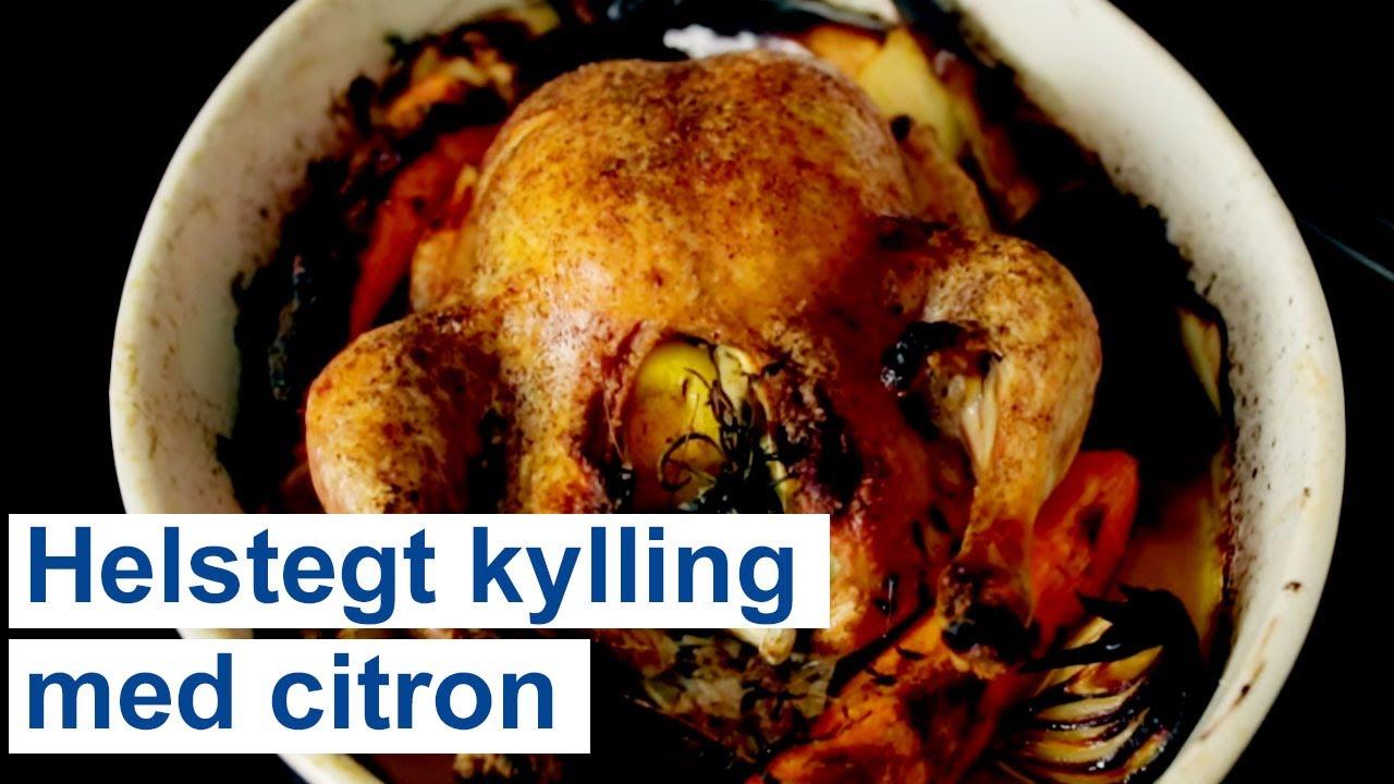 hel kylling i ovn med rodfrugter