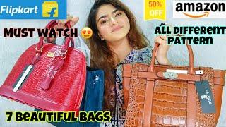 FLIPKART AMAZON HANDBAGS HAUL Party Office College Casual bags Amazon Haul FlipKart haul