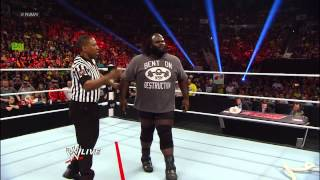 Mark Henry takes on Tensai, Brodus Clay and Sheamus in Tug of Wars: Raw, April 29, 2013