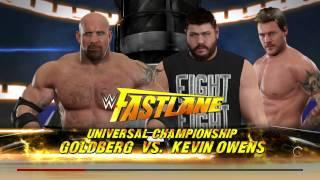 WWE 2K17 PC Gameplay - Goldberg vs Kevin Owens - Universal Championship