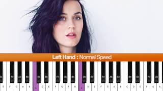 "How To Play ""Roar"" (Katy Perry) Piano Tutorial / Chords"