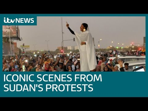 Sudanese protester captures emotional charge of political uprising | ITV News