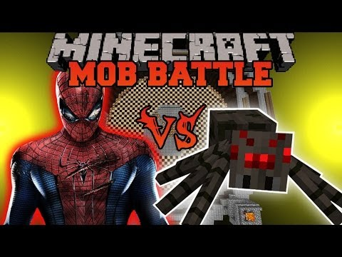 SPIDERMAN VS SPIDERS - Minecraft Mod Battle - Mob Battles - Superheroes Unlimited Mods