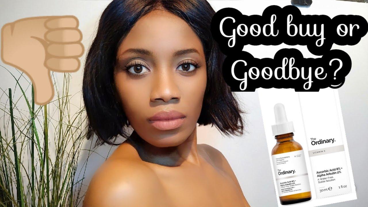 The Ordinary Ascorbic Acid 8 Alpha Arbutin 2 Skin Lightening Serum Review Youtube