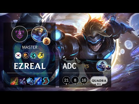 Ezreal ADC vs Ashe - KR Master Patch 10.19