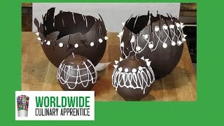 How to Make Chocolate Bowls - Chocolate Eggs - Chocolate Basket Show Piece