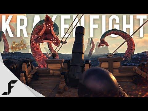 FIGHTING THE KRAKEN - Sea of Thieves